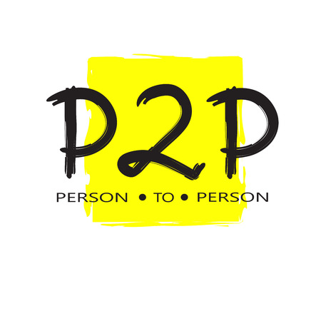 P2P person to person. English youth slang abbreviations. Print for inspirational poster, t-shirt, bag, cups, card, flyer, sticker, badge. Cute and funny vector