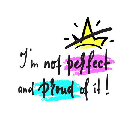 Je ne suis pas inspiré et citation de motivation. Beau lettrage dessiné à la main. Imprimez pour une affiche inspirante, un t-shirt, un sac, des tasses, une carte, un prospectus, un autocollant, un badge. Vecteur drôle mignon