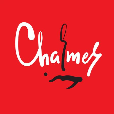 Charmer - inspire motivational quote. Hand drawn beautiful lettering. Print for inspirational poster, t-shirt, bag, cups, card, flyer, sticker, badge. Cute funny vector writing Illusztráció