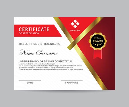 Moderne Zertifikatvorlage und Hintergrund