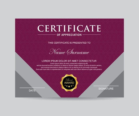 Modern certificate template and background