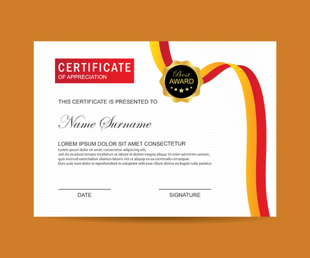 Modern Certificate Template And Background Royalty Free Cliparts