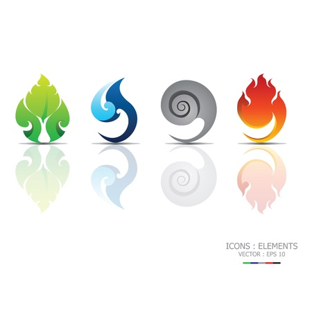 Iconos elementos Ilustración de vector