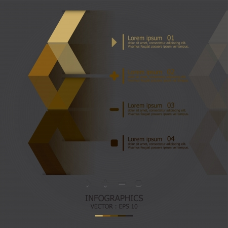 econimics: Modern Arrows Design Template Illustration