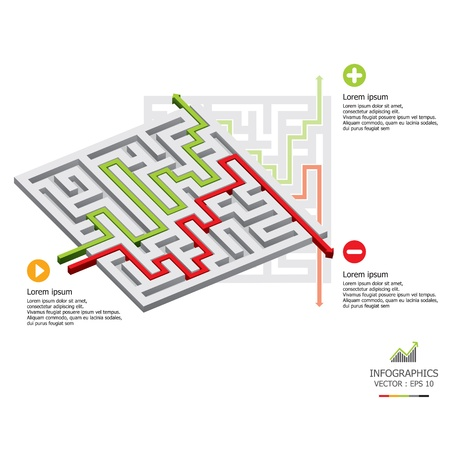 econimics: Maze Infographics Design Template