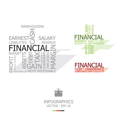 receivable: Financial Words With Time Bomb Shape
