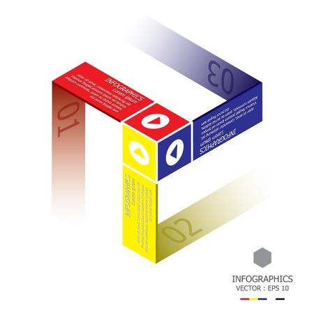 Moderne Cube-Design-Vorlage Illustration