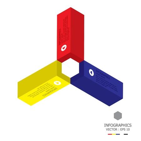 gimmick: Modern Cube Design Template Illustration