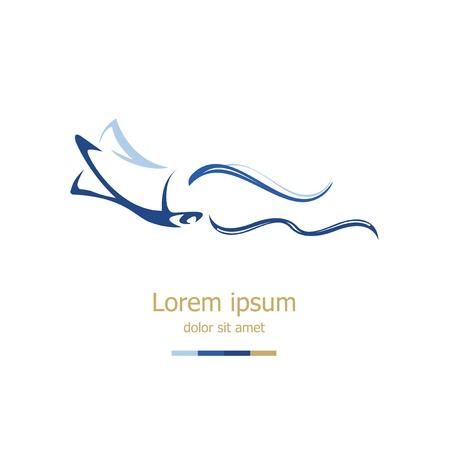 econimics: Logo Design Template Illustration