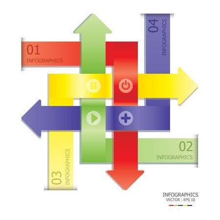 overlap: Overlap Arrows Design Template