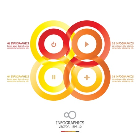 circulate: Modern Infinity Circle Overlap Design Template Illustration
