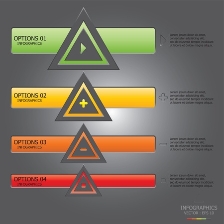 del: Modern Triangle Infographics Design Template Illustration