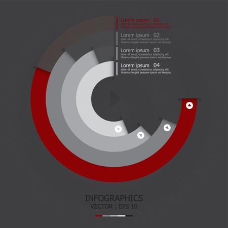 planning diagram: Modern Curve Design Template Illustration