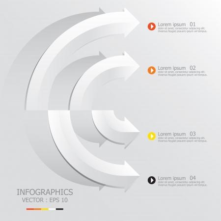 Moderne Pfeile Design-Vorlage