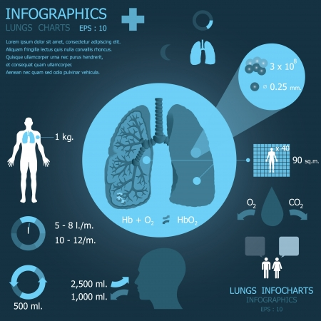 Lungs Infocharts Illustration