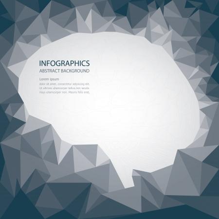 occipital: Brain Shape Abstract Background