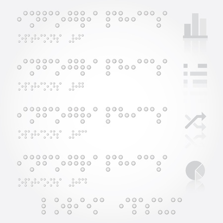 Braille Infographics Design Template Vector