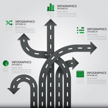 Stra�e und Sign Infografik Design-Vorlage