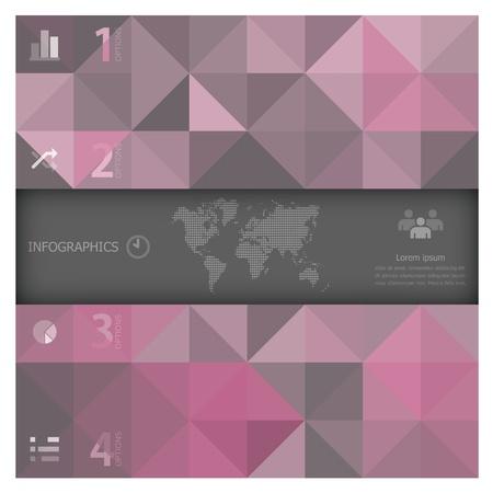 Abstrakt Banner und Hintergrund Infografik Design-Vorlage