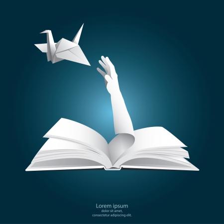 libros volando: Sólo Libertad Papel Gráficos Estilo