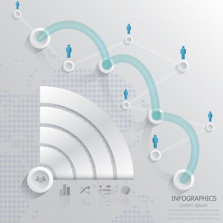 通信接続インフォ グラフィック  イラスト・ベクター素材