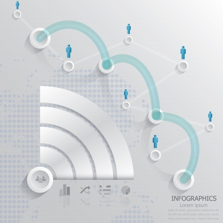 Kommunikation anschlie�en Infografik