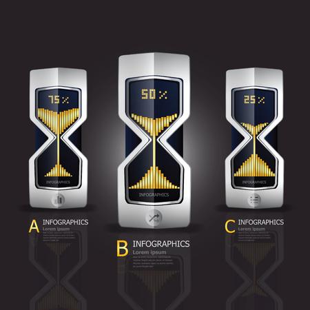 Sandglass Infografik-Design-Vorlage