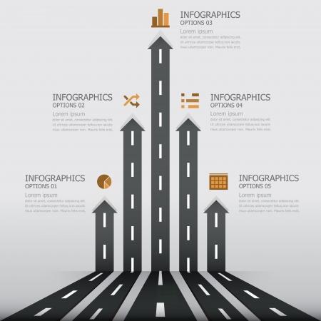 道路標識のインフォ グラフィック デザイン テンプレート