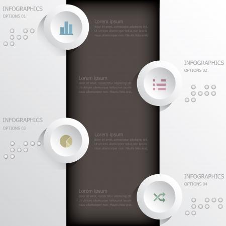 インフォ グラフィック デザイン テンプレート バナーと背景