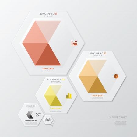 Hexagon Geometrische Form Infografik-Design-Vorlage