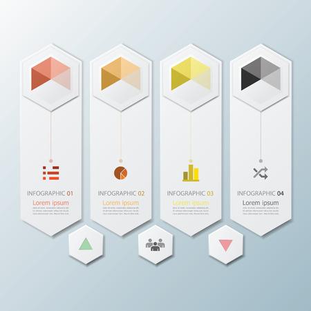 hexagon background: Hexagon Geometric Shape Infographic Design Template