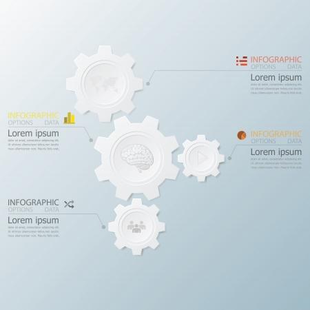 Zahnform Infografik mit Papiergrafikstil