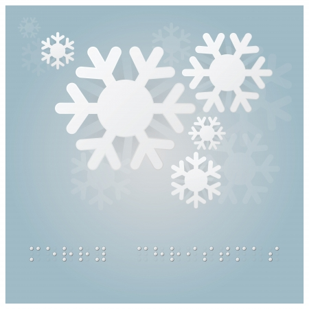 Christmas Background With Braille Alphabet Stock Vector - 24081437