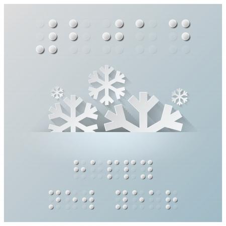 braille: Antecedentes Braille Alphabet Año Nuevo Papel Estilo gráfico