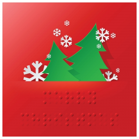 braille: Banner Background Braille Alfabeto de Navidad con papel estilo gráfico
