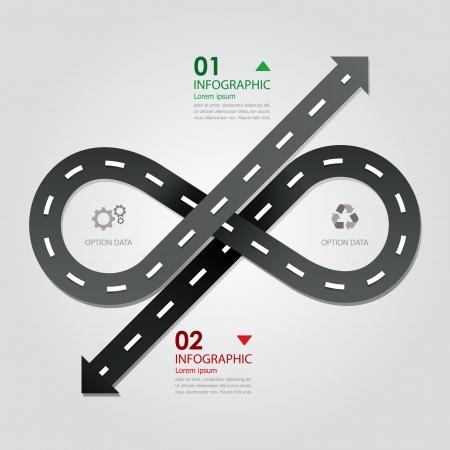 ストリート道路事業インフォ グラフィック デザイン テンプレート