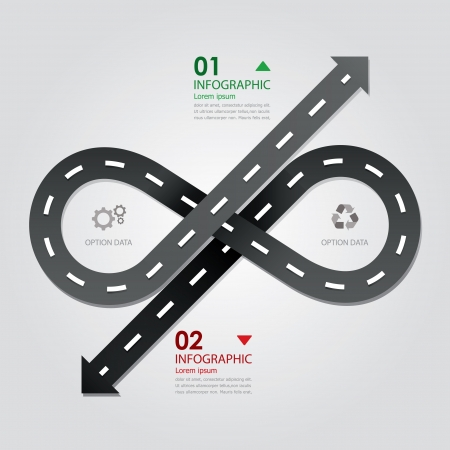 infinity road: Street   Road Business Infographics Design Template