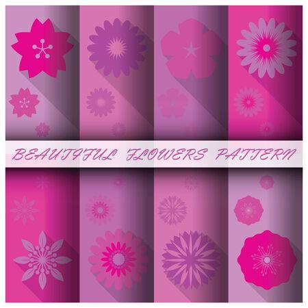 gift paper: Flowers Pattern Set