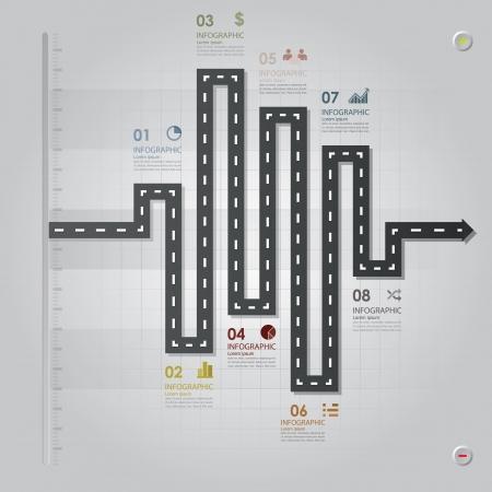 道路街路事業インフォ グラフィック デザイン テンプレート