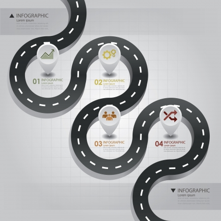 road: Road   Street Business Infographic Design Template
