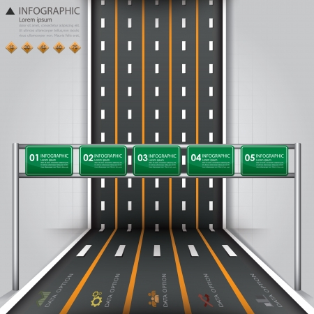 road map: Road   Street Business Infographic Design Template