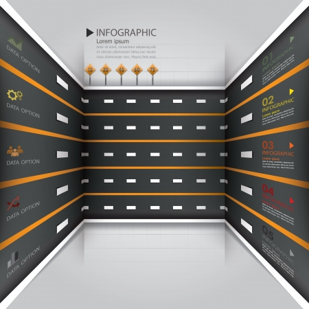 Road Street Business-Infografik-Design-Vorlage