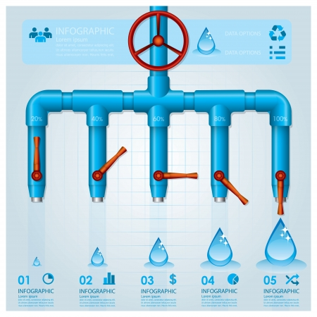 Water Pipe Business Infographic Design Template