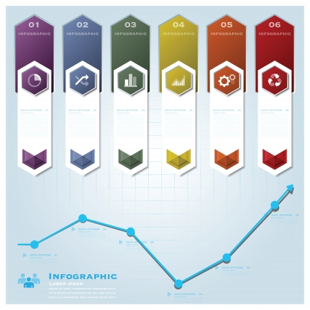 Hexagon Geometric Shape Business Infographic Design Template Vector