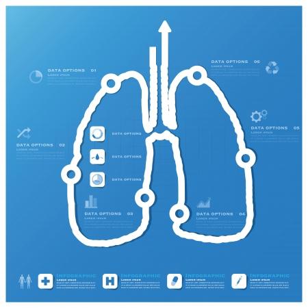 Lungenform Business und Medical Infografik Design-Vorlage Illustration