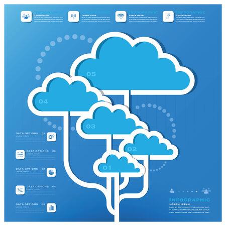 Kommunikation, Verbindung, Wolke Form Gesch�ft Infografik Design-Vorlage