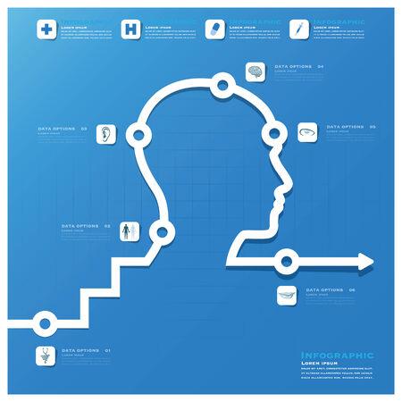 Leiter Medizin-und Gesundheitsinformationsgrafik Hintergrund Design-Vorlage
