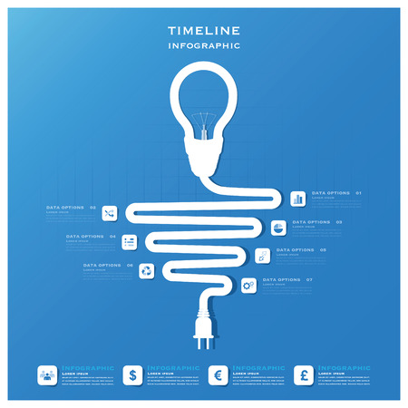 Light Bulb Timeline Business Infographic Design Template Vector