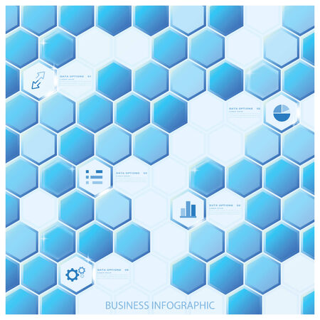 Modern Hexagon Business Infographic Background Design Template Vector