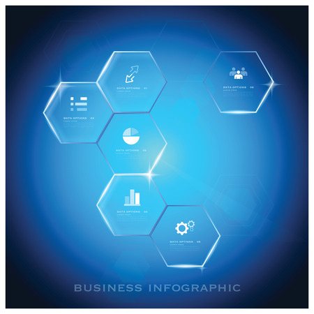 Modern Hexagon Business Infographic Background Design Template - Vector Design Background Pattern Vector